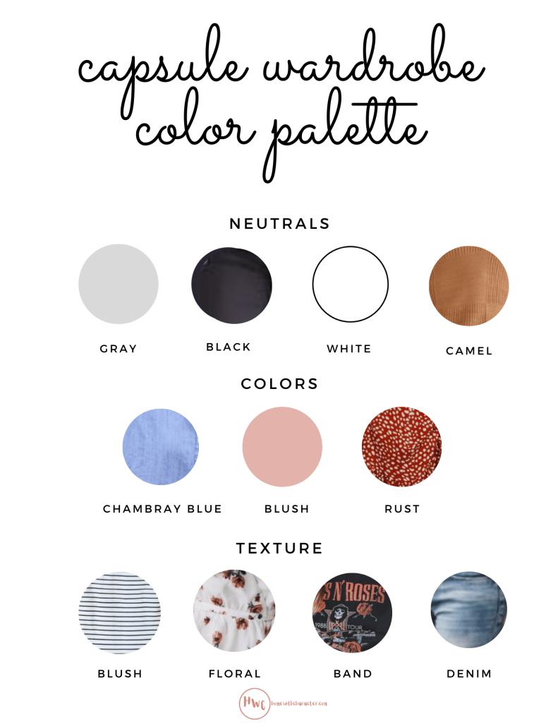 Capsule wardrobe colors
