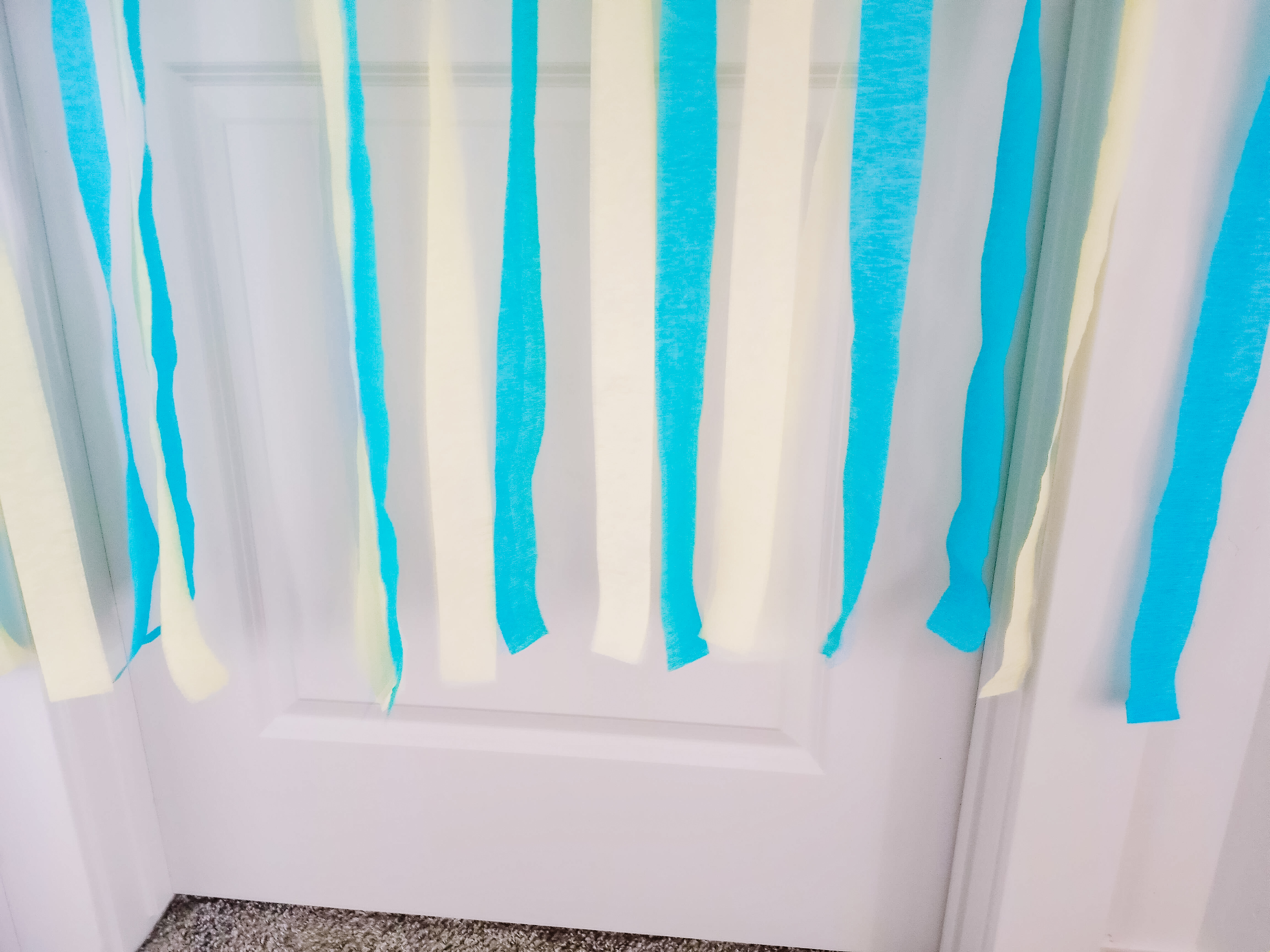 Easy perfect birthday door streamers