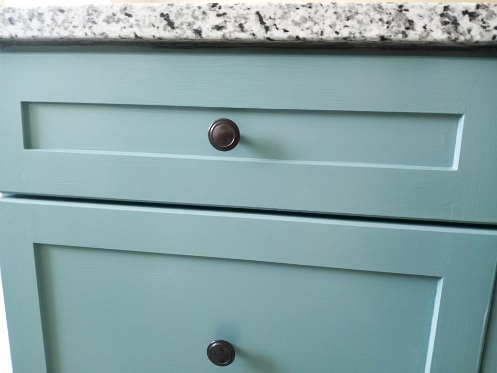 Painting a kitchen island hardware